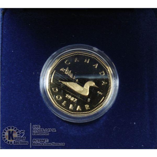 1987 CANADA CASED PROOF DOLLAR