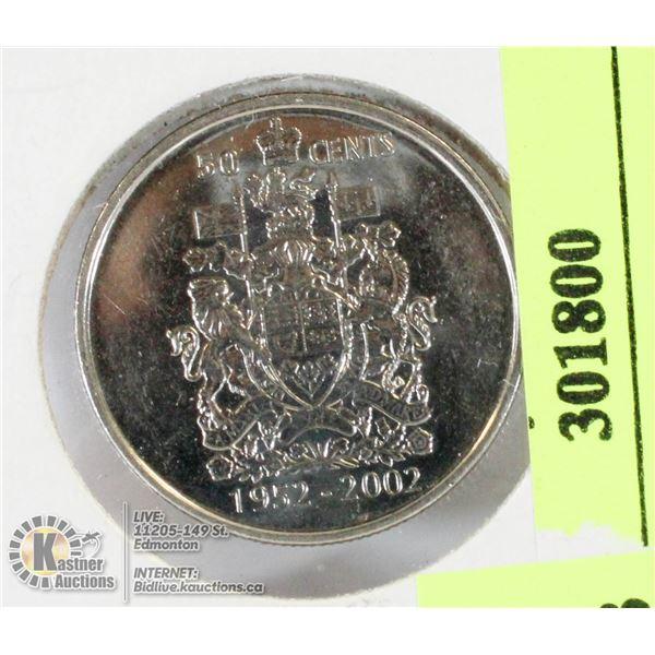 2002 CANADIAN 50 CENT PIECE QE11