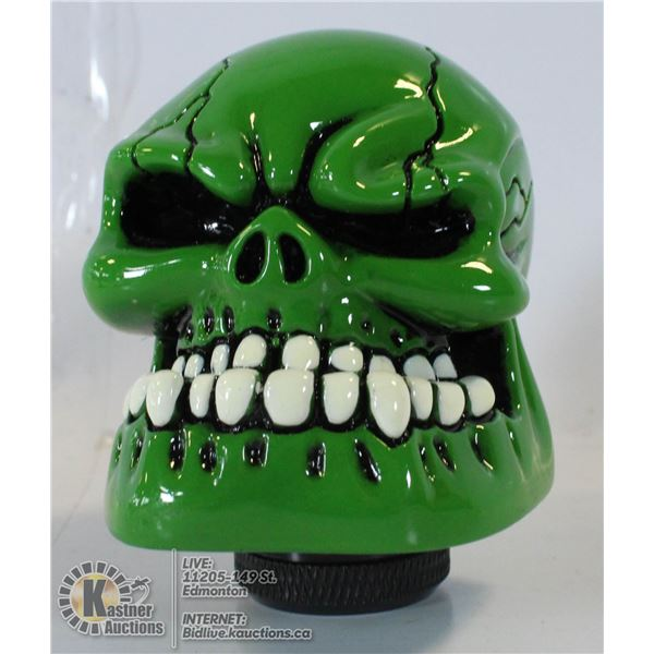 UNCLAIMED NEW GREEN SKUYLL GEAR SHIFT COVER