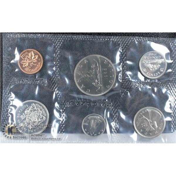 UNCLAIMED 1968 SILVER CDN PROOF COIN SET W/ DOLLAR