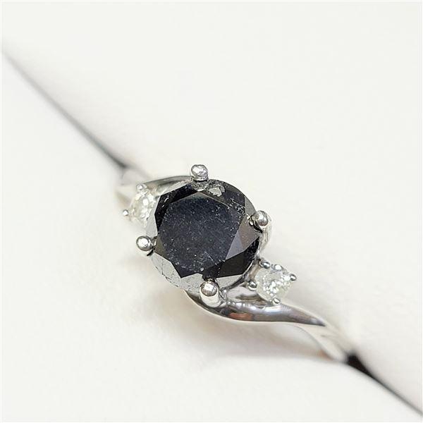 MZ7-5 10K  BLACK DIAMOND DIAMOND RING