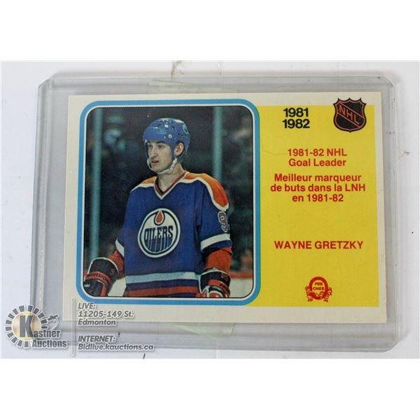 1982 OPC GRETZKY GOAL LEADER CARD