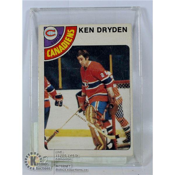 KEN DRYDEN HOCKEY CARD OPC 1978