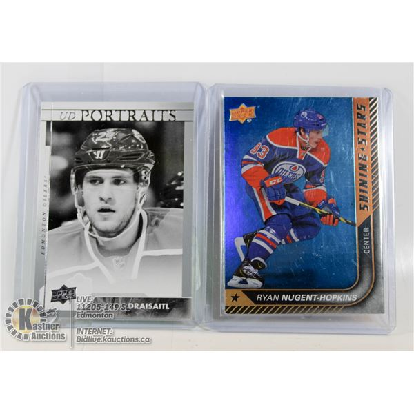 2 UPPERDECK INSERTS (DRAISAITL AND NUGGENT