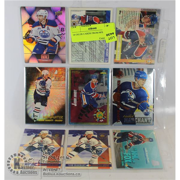 16 OILER CARDS FROM 90'S