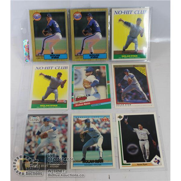 9 NOLAN RYAN CARDS