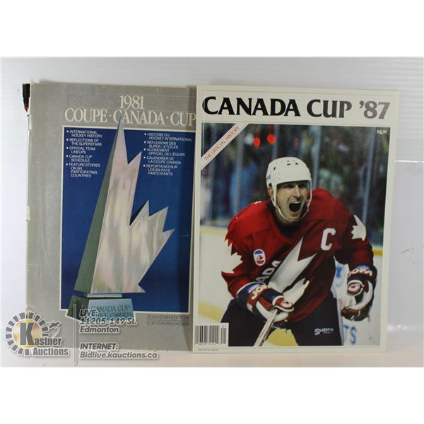 2-CANADA CUP SOVENIER HISTORY MAGS (1981 AND