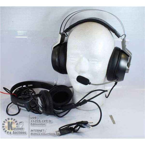 TWO PAIRS GAMING HEADSETS