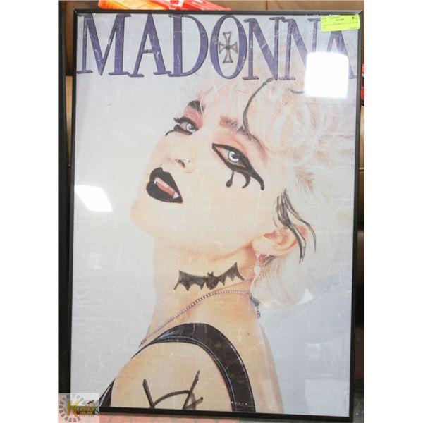 "MADONNA FRAMED PICTURE 28"" X 20"""