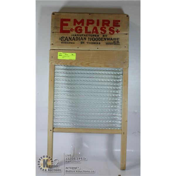 ANTIQUE EMPIRE GLASS WASHBOARD