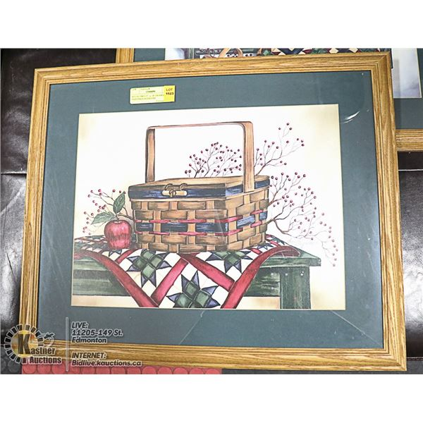 """SET OF TWO 22""""  x  18"""" FRAMED PAINTINGS SIGNED BY"""
