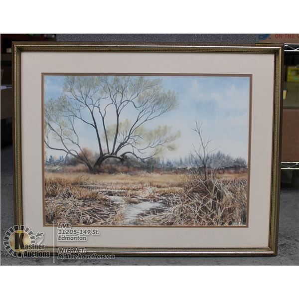 FRAMED NATURE PAINTING