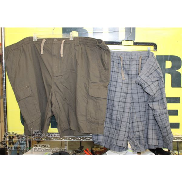 2 PAIRS OF SIZE 4XL SHORTS GREY AND BROWN