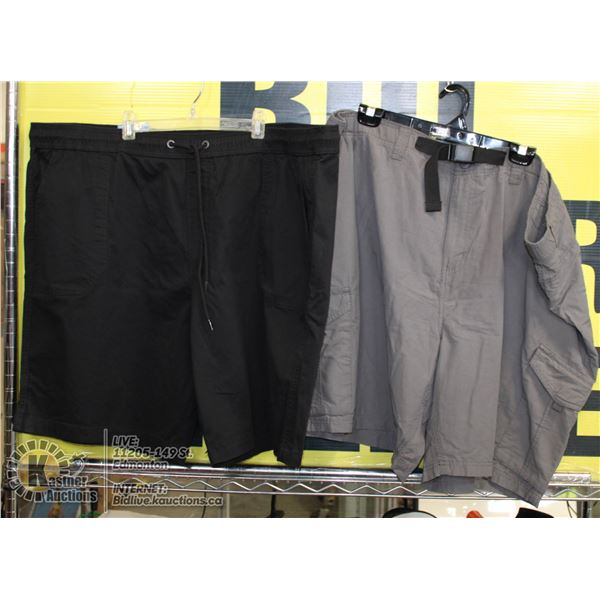 2 PAIRS OF SHORTS SIZE 50 GREY AND BLACK