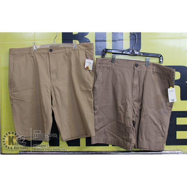 2 PAIRS OF SHORTS SIZE 36 BOTH BEIGE