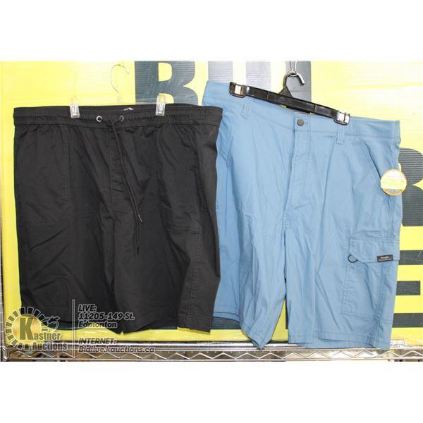 2 PAIRS OF SHORTS SIZE 46 BLUE AND BLACK