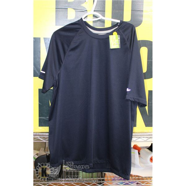 ATHLETIC WORKS T-SHIRT NAVYBLUE SIZE L