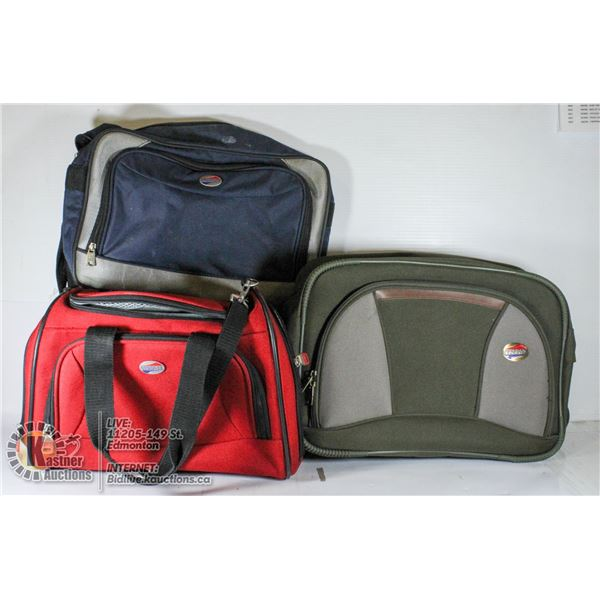 3 AMERICAN TOURISTER CARRY-ON BAGS