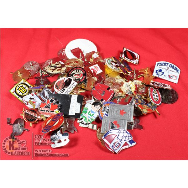 NHL COLLECTORS LAPEL PINS COLLECTION