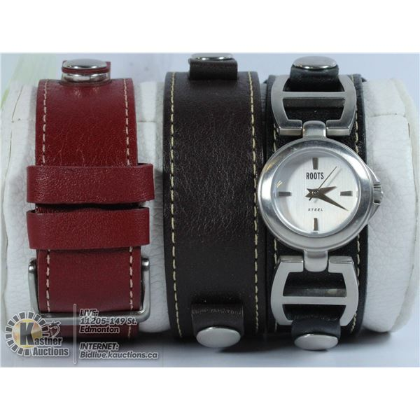 ROOTS WATCH WITH CHANGEABLE STRAPS