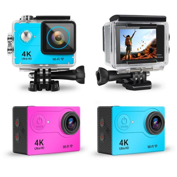 NEW BLACK SPORTS ACTION CAM WITH MOUNTS