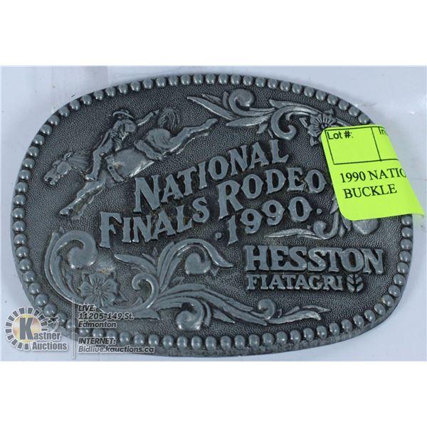 1990 NATIONAL FINAL RODEO BELT BUCKLE