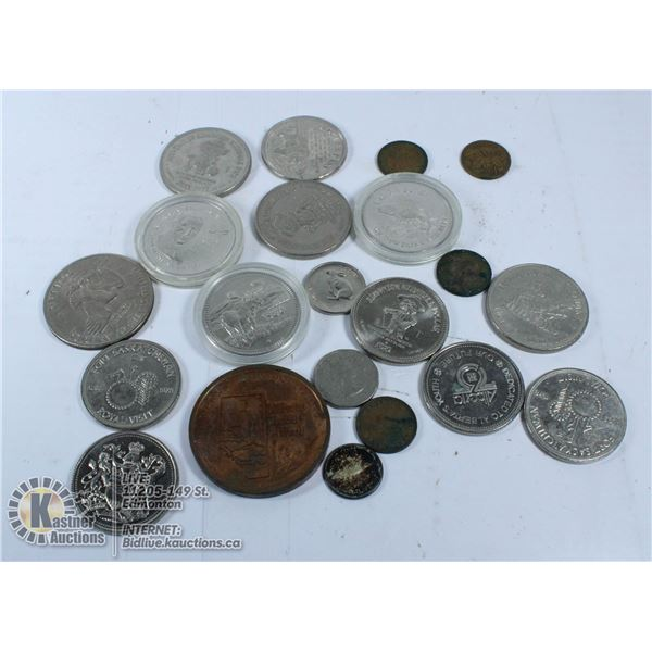 BAG OF COLLECTABLE COINS