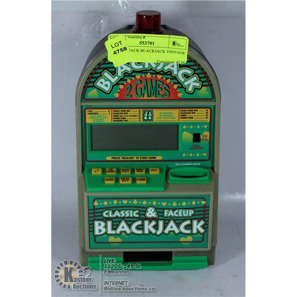 RADIO SHACK BLACKJACK VINTAGE