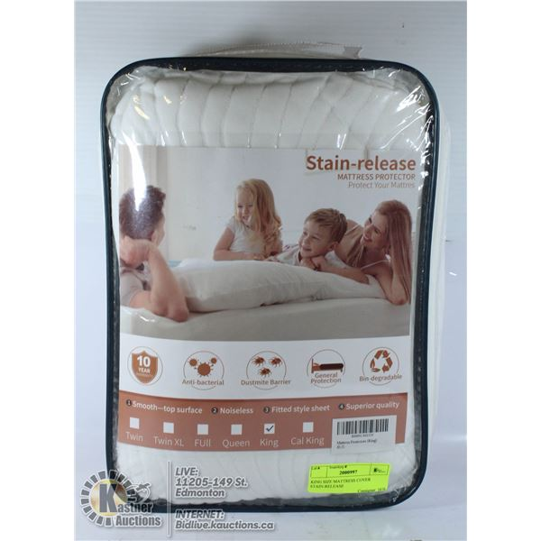 KING SIZE MATTRESS COVER STAIN-RELEASE