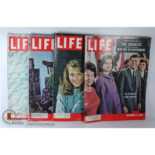 FOUR 1960 LIFE MAGAZINES