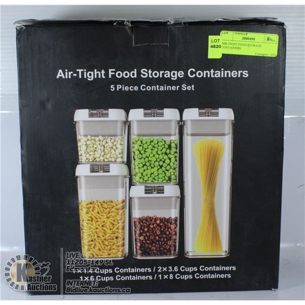 AIR-TIGHT FOOD STORAGE CONTAINERS