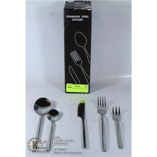 STAINLESS STEEL CUTLERY 30 PC SET