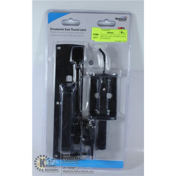 ORNAMENTAL GATE THUMB LATCH NEW IN PACKAGE