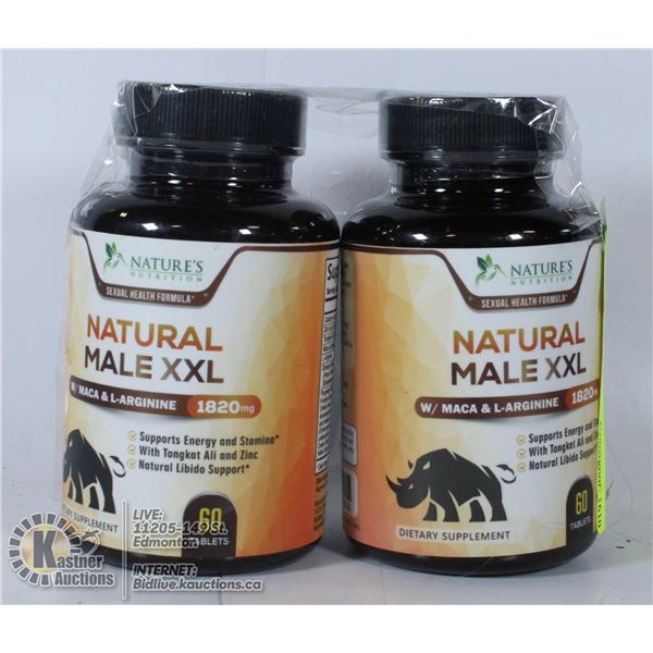 2 X NATURE'S NUTRITION NATURAL MALE XXL 1820MG