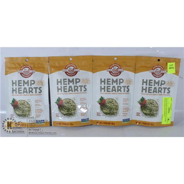 4X56G MANITOBA HARVEST HEMP HEARTS SHELLED HEMP SE