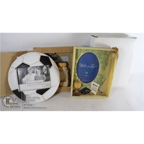 UNCLAIMED LOT OF ASSORTED PICTURE FRAMES