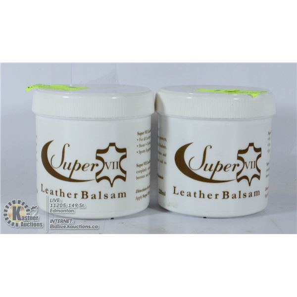 2 NEW LEATHER BALSAM WATERPROOFS AND NOURISHES
