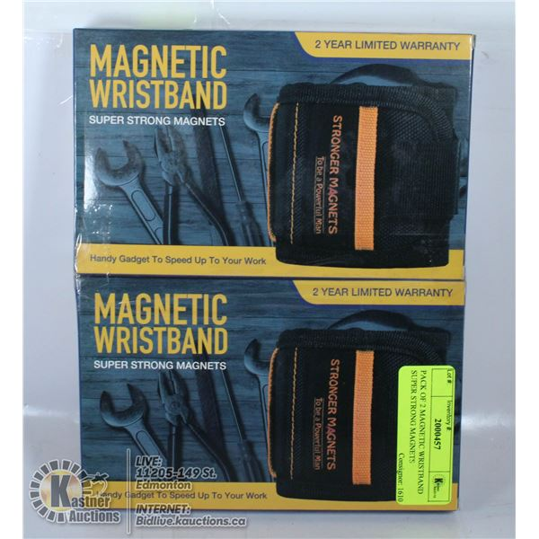 PACK OF 2 MAGNETIC WRISTBAND SUPER STRONG MAGNETS