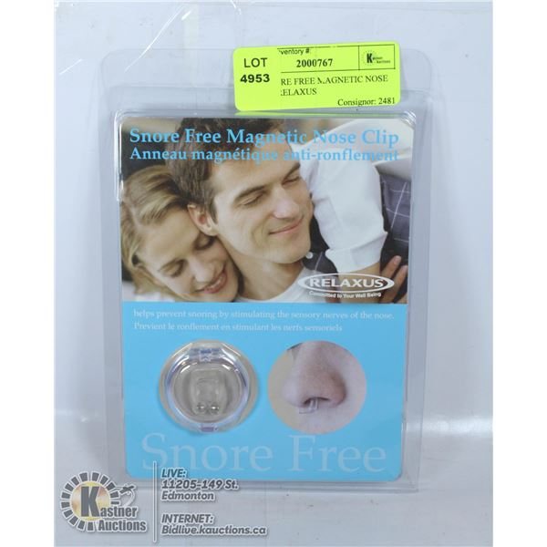 NEW SNORE FREE MAGNETIC NOSE CLIP BY RELAXUS