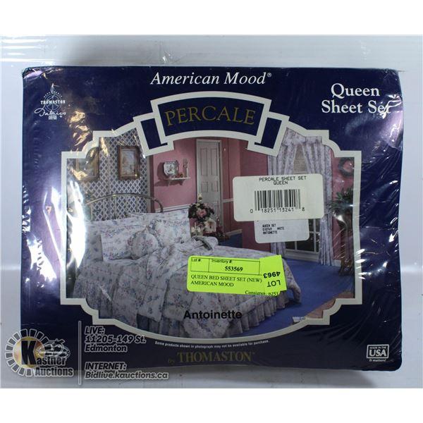 QUEEN BED SHEET SET (NEW) AMERICAN MOOD