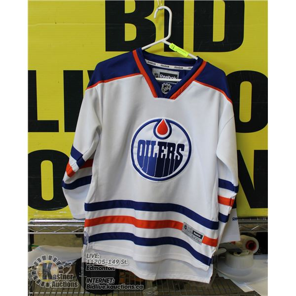OILERS JERSEY YOUTH LARGE/XL REEBOK