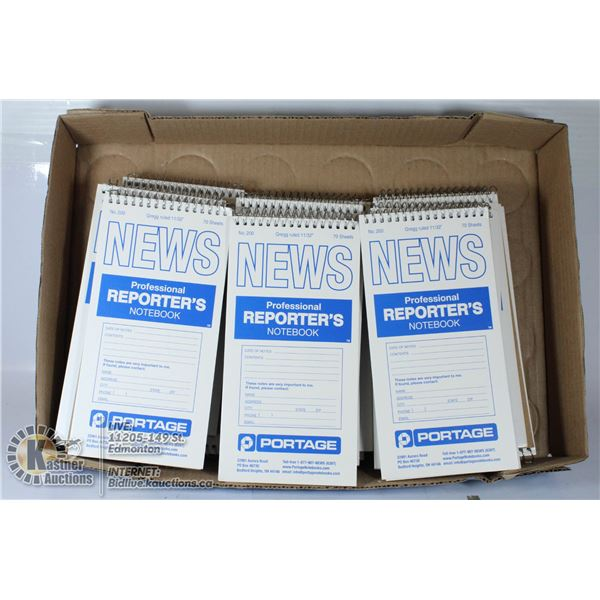 FLAT OF 24 PROFESSIONAL REPORTERS NOTEBOOKS