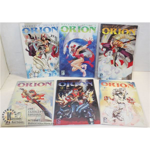 COMICS 1-6 ISSUES ORION SERIES