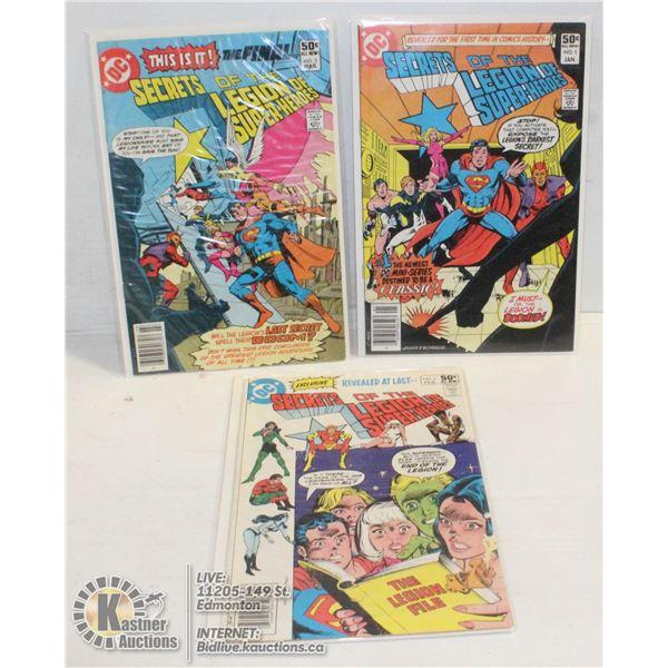 COMICS SECRETS OF LEGION OF SUPER-HEROES 1-3 SET