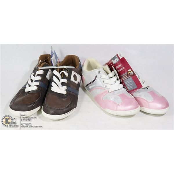 TWO PAIRS OF PEPPERTS KINDER SNEAKER SIZE EU 34