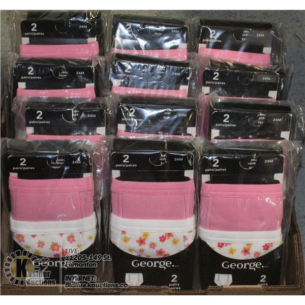 VENDORS BOX OF TRAINING UNDERWEAR AGES 24 MONTHS+