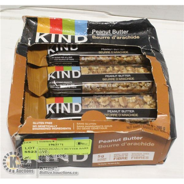 BOX OF KIND PEANUT BUTTER BARS 12 PACK