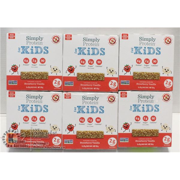 SIMPLY PROTEIN FOR KIDS STRAWBERRY VANILLA 6 BOXES