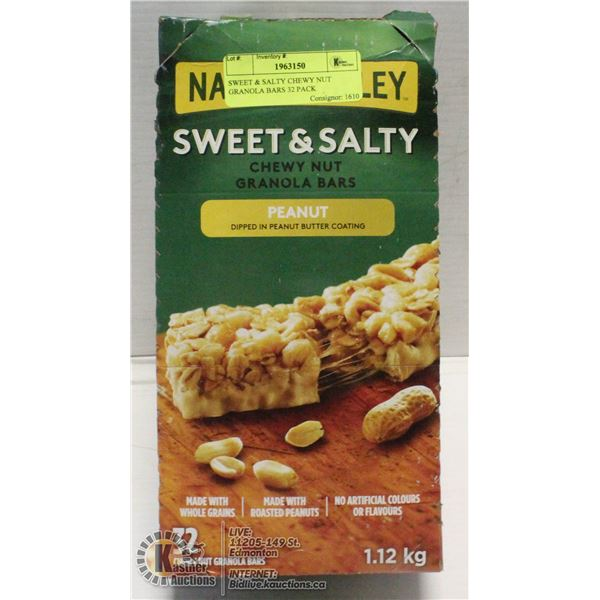 SWEET & SALTY CHEWY NUT GRANOLA BARS 32 PACK