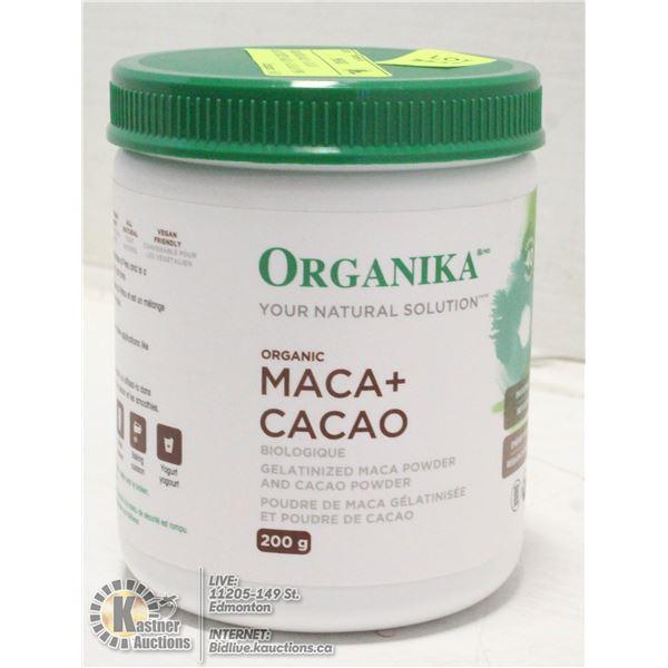ORGANIKA MACA + CACAO GELATINIZED MACA + CACAO POW